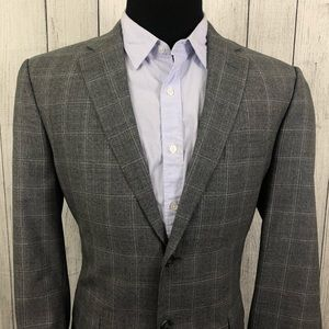 Jos. A. Bank 42R Gray Wool 2-Button Sports Coat